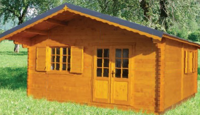 chalet habitable annecy 30m en bois en kit sans mezzanine. Black Bedroom Furniture Sets. Home Design Ideas