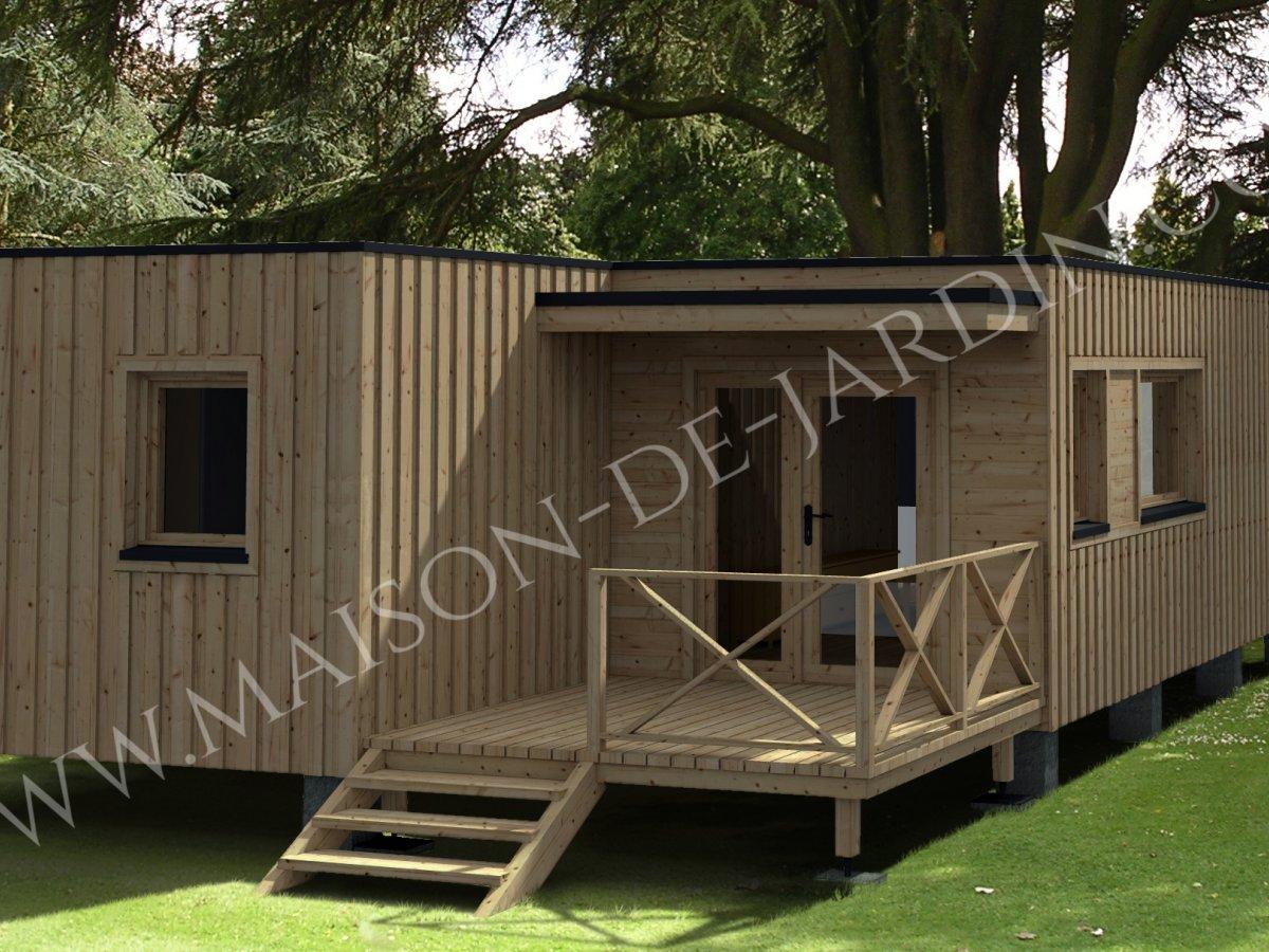 Maison de jardin essonne en bois en kit - Maison en bois jardin ...