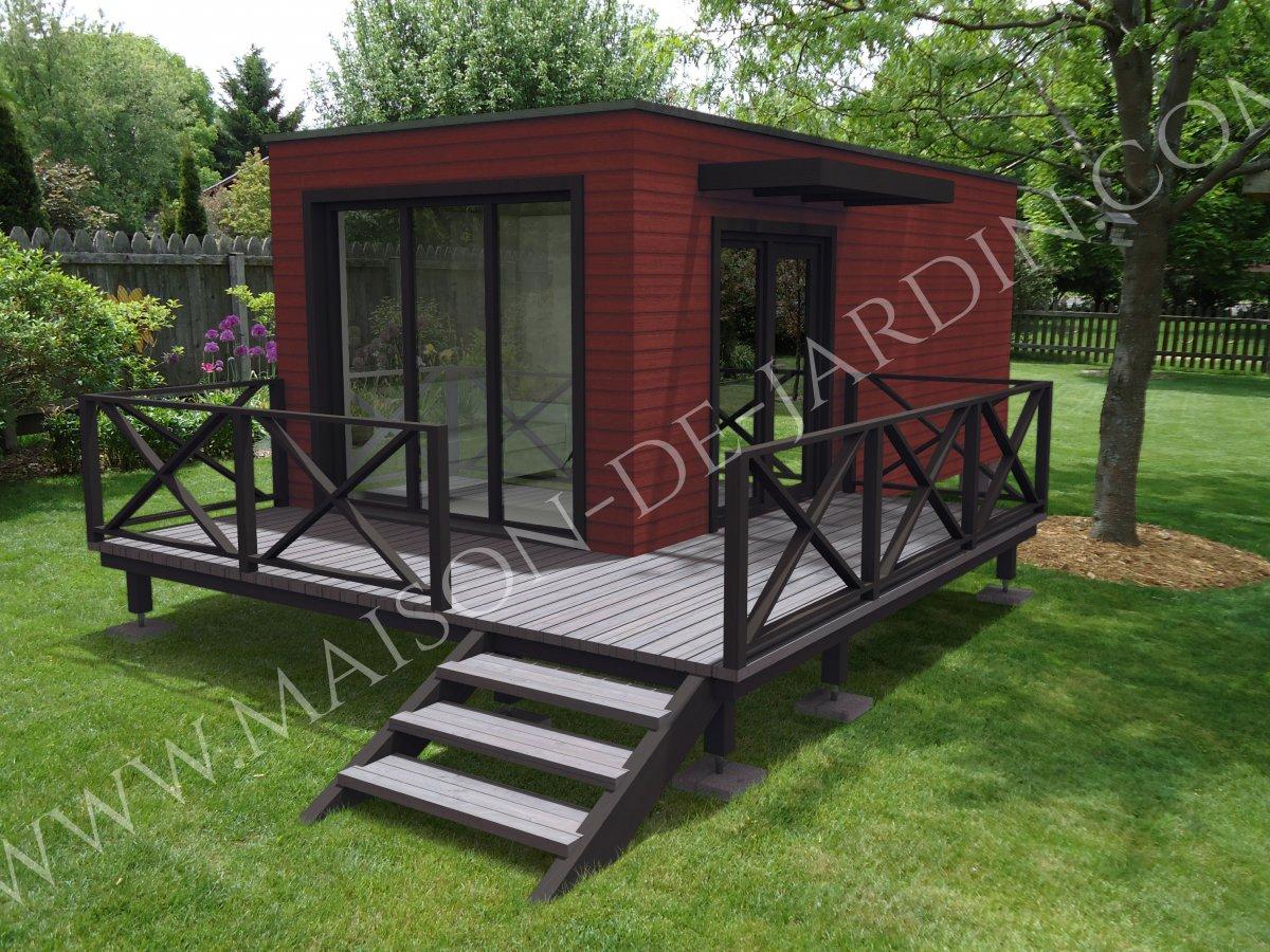 maison de jardin herault en bois en kit sans permis de construire. Black Bedroom Furniture Sets. Home Design Ideas