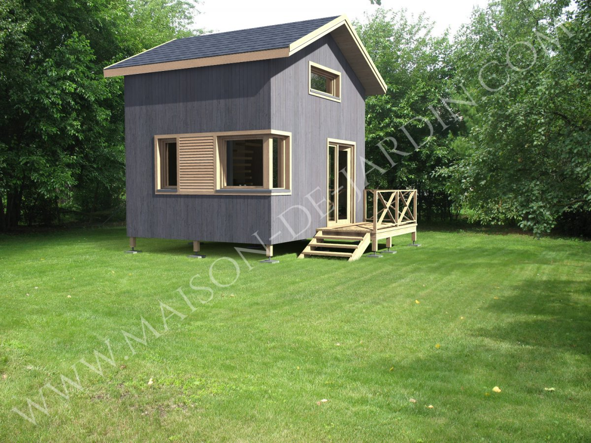 maison de jardin nanterre en bois. Black Bedroom Furniture Sets. Home Design Ideas