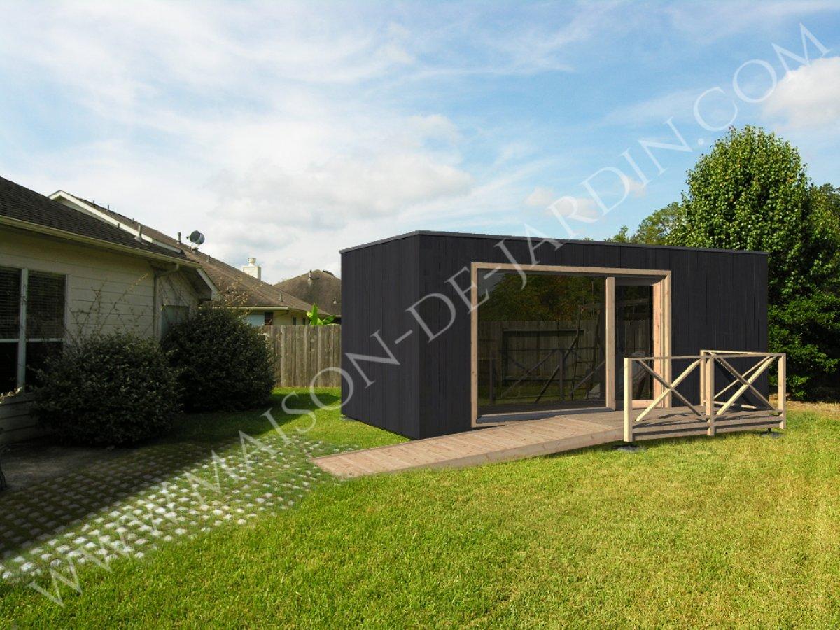 Maison de jardin paris en bois en kit sans permis de for Extension maison sans permis