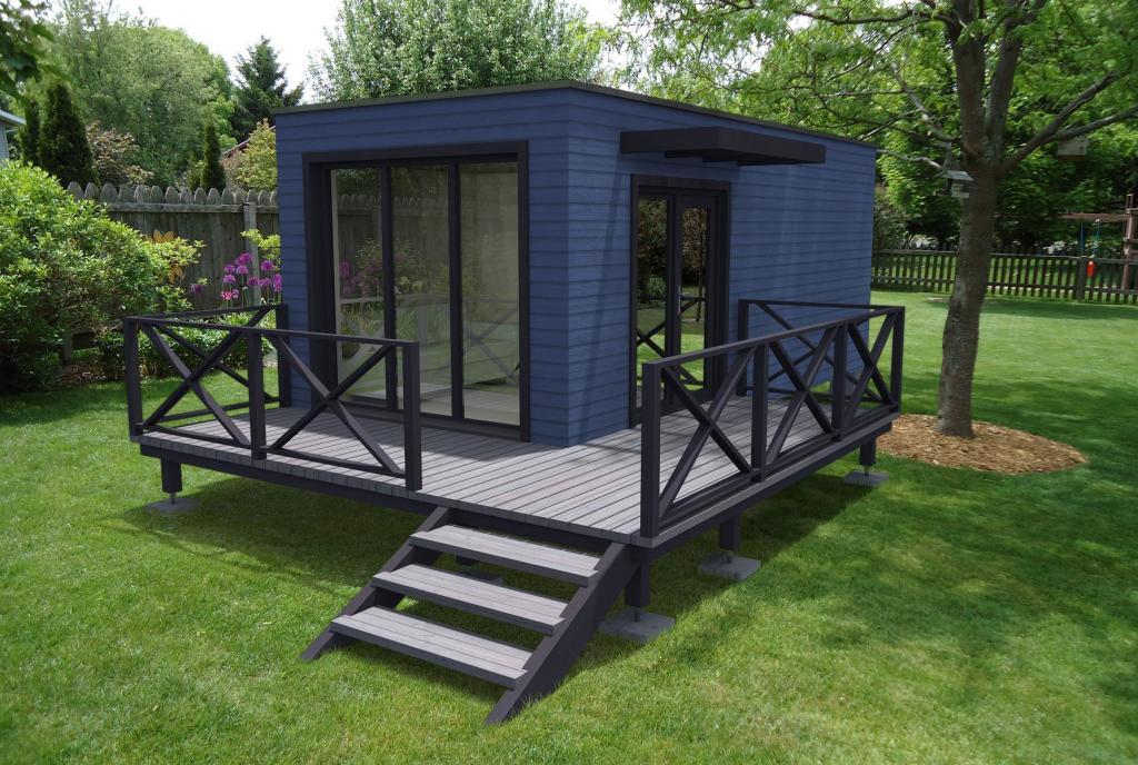 studio de jardin sans permis de construire. Black Bedroom Furniture Sets. Home Design Ideas
