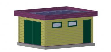garage en bois sans permis de construire. Black Bedroom Furniture Sets. Home Design Ideas