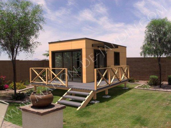 Maison de jardin rhone en bois en kit sans permis de construire - Cabane de jardin permis de construire ...