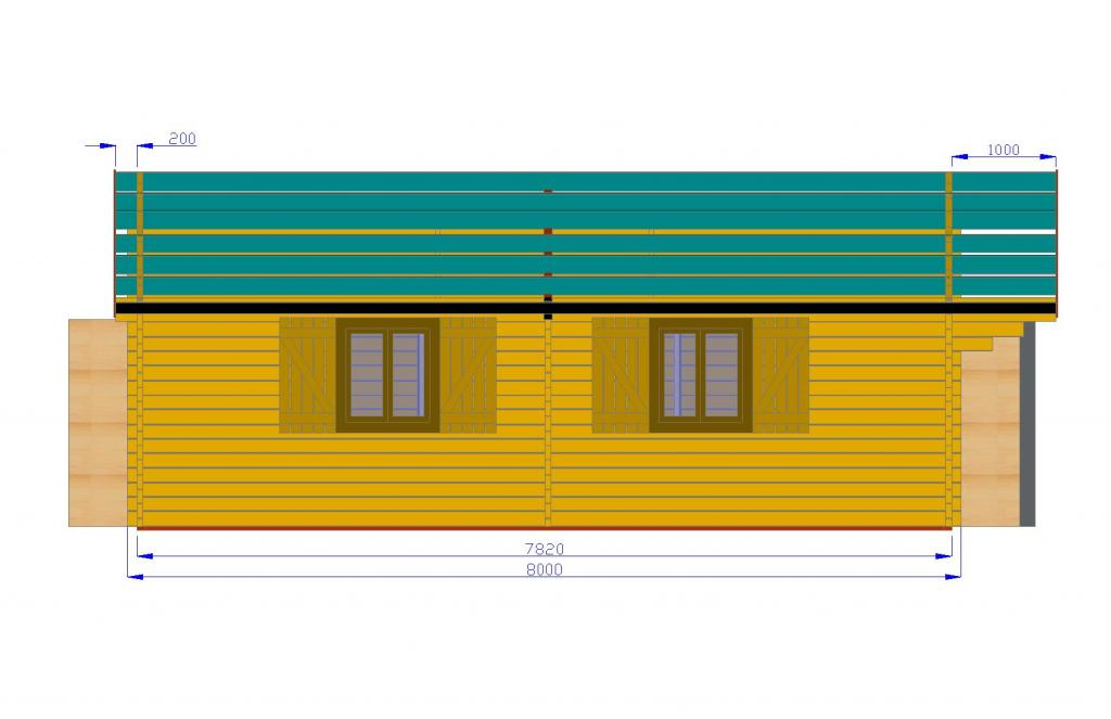 Bois de 72m2 chalets habitables en bois en kit for Chalet de jardin en solde