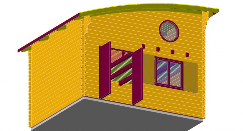 chalet habitable lille 20m mezzanine 10m en bois en kit avec mezzanine. Black Bedroom Furniture Sets. Home Design Ideas