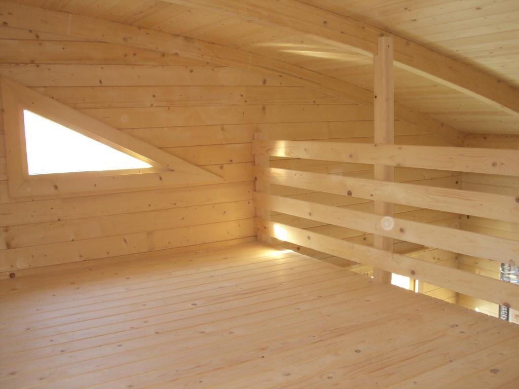 Chalets habitables en bois en kit sans permis de construire avec mezzanine - Chalet de jardin avec mezzanine ...