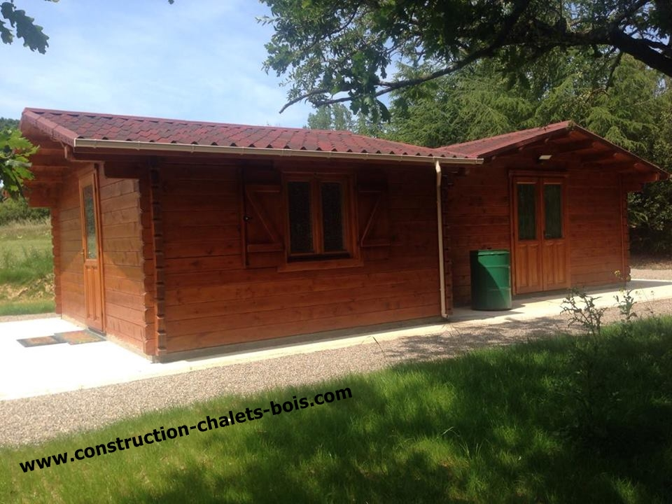 Chalet habitable paris 20m en bois en kit sans permis for Construction chalet vosges tarif