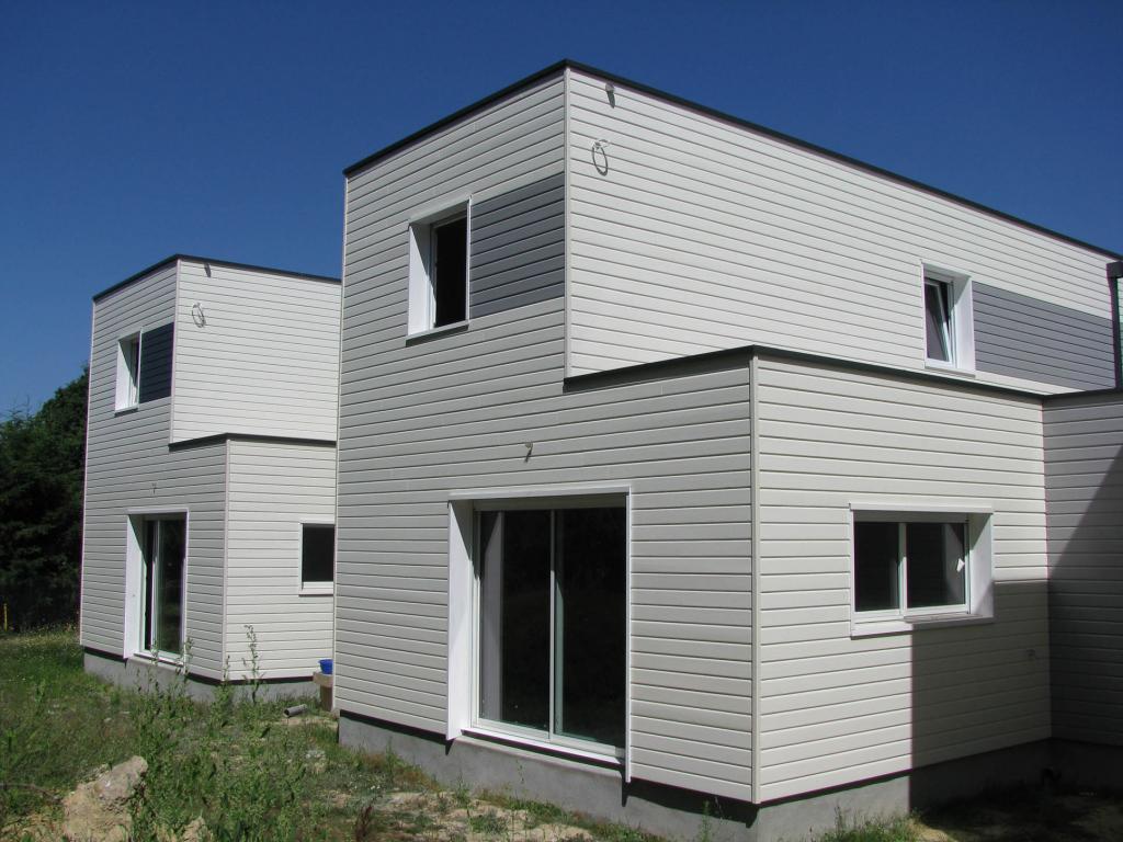 Photo suppl mentaire maison ossature bois rh ne 69 trois maisons b for Construction chalet bois 05