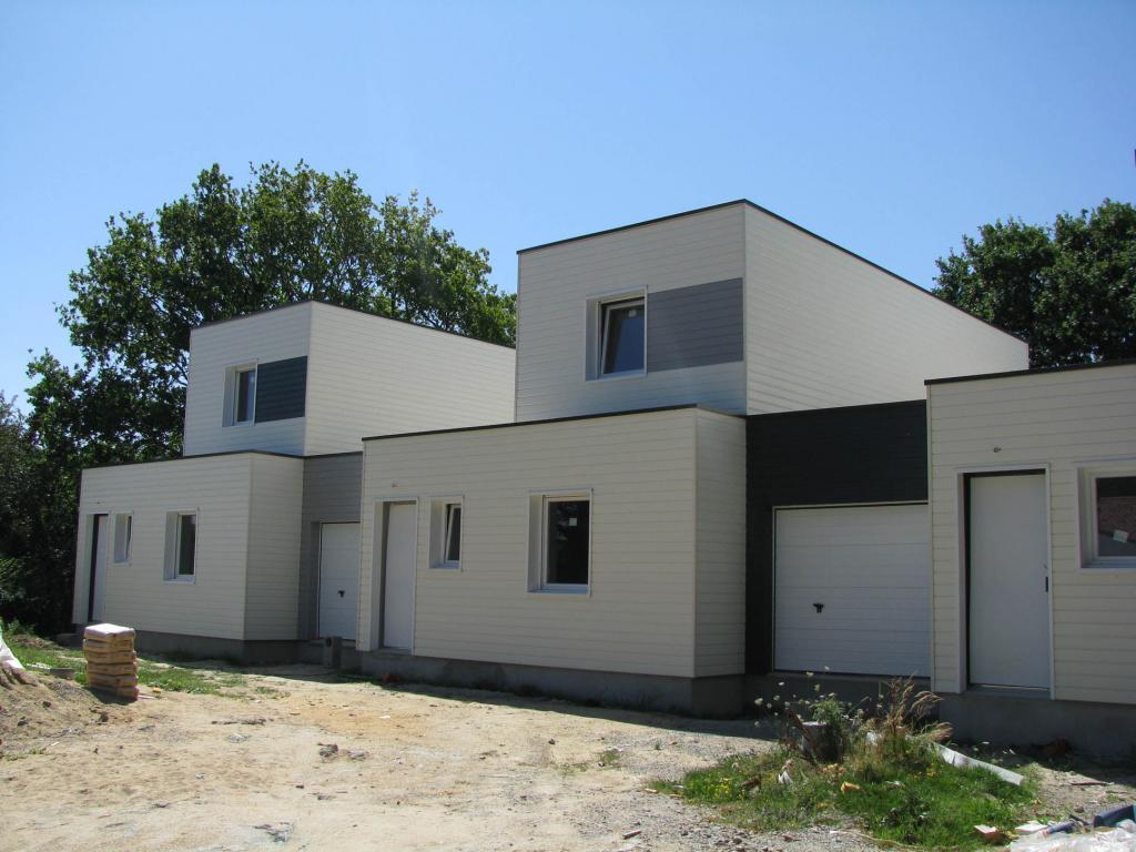 Maison ossature bois rh ne 69 trois maisons b for Construction maison en bois 69
