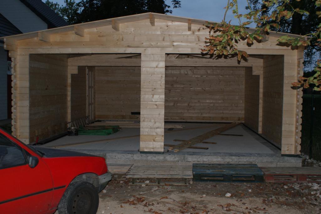 Garage En Bois En Kit : Photo suppl?mentaire Garage en bois double Nord 42 m?