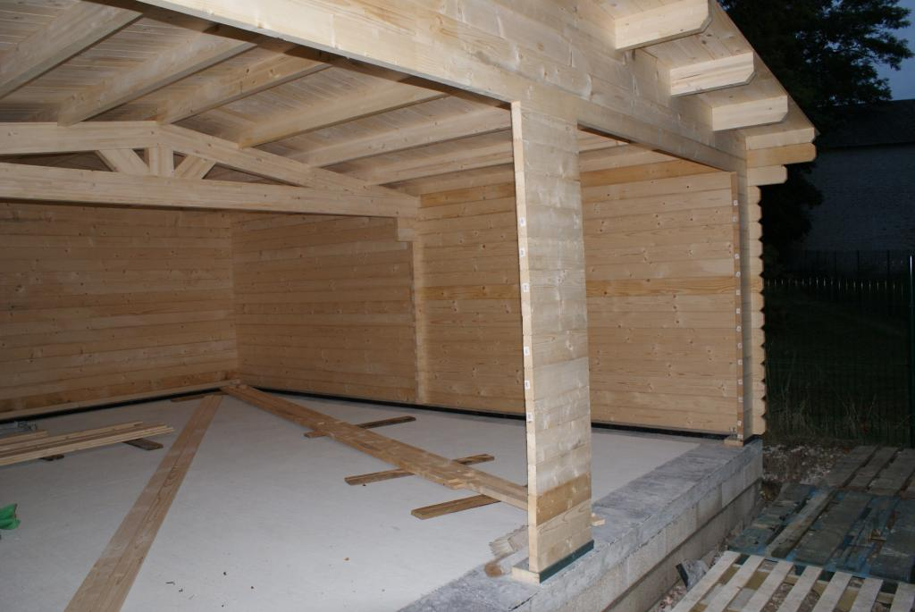 Garage en bois for Construire garage en bois