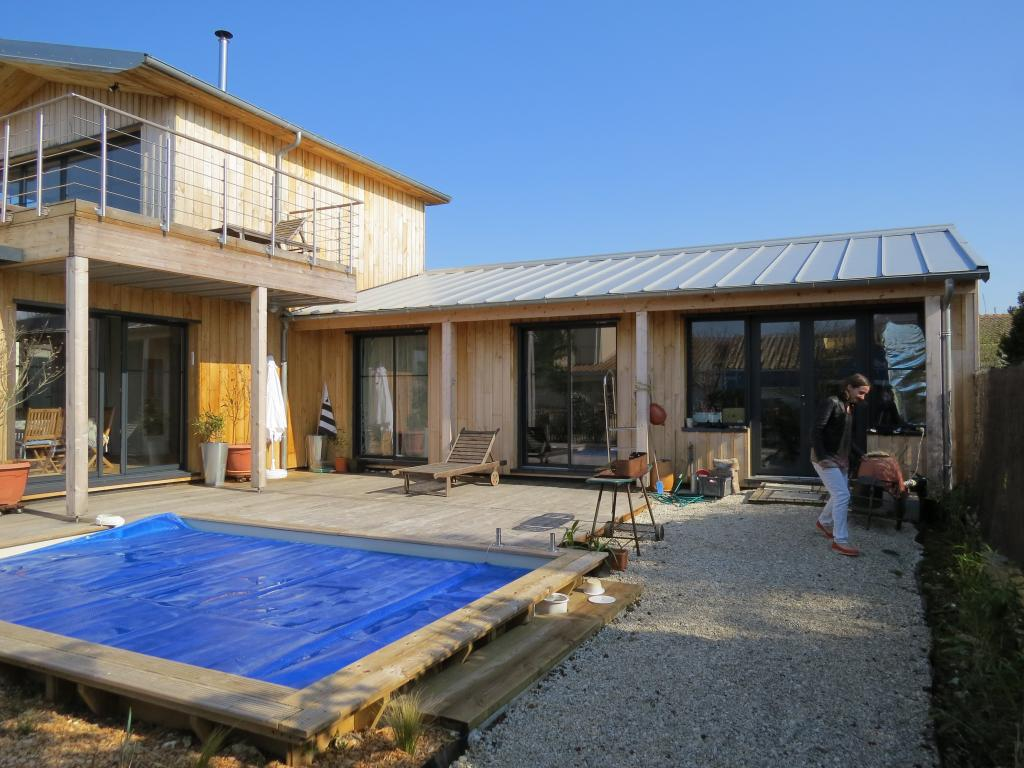 Maison ossature bois maison bois c te atlantique en bois en kit - Maison de la cote atlantique ...
