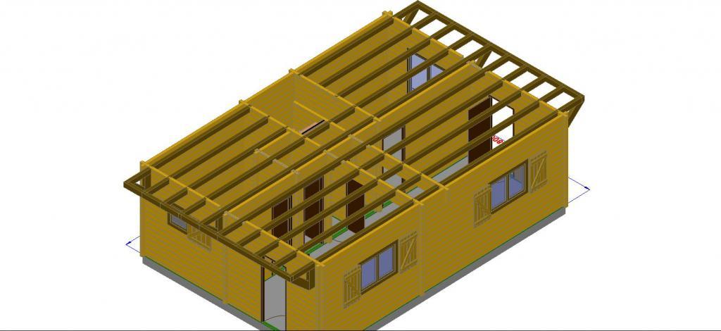 Maison bois en kit 96 m en bois en kit avec mezzanine for Construction maison en kit bois