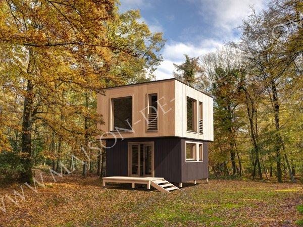 Studios de jardin avec ossature bois cl en main - Construction studio dans jardin ...