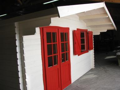 chalet de loisirs chamb ry 25m en bois en kit sans mezzanine. Black Bedroom Furniture Sets. Home Design Ideas