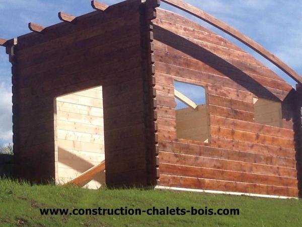 Chalet de loisirs lille 20m en bois en kit sans permis for Construction chalet bois sans permis construire