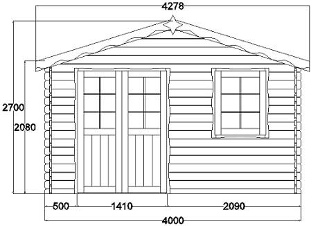 Abri de jardin grenoble 16m en bois en kit sans mezzanine - Plan abri jardin ...