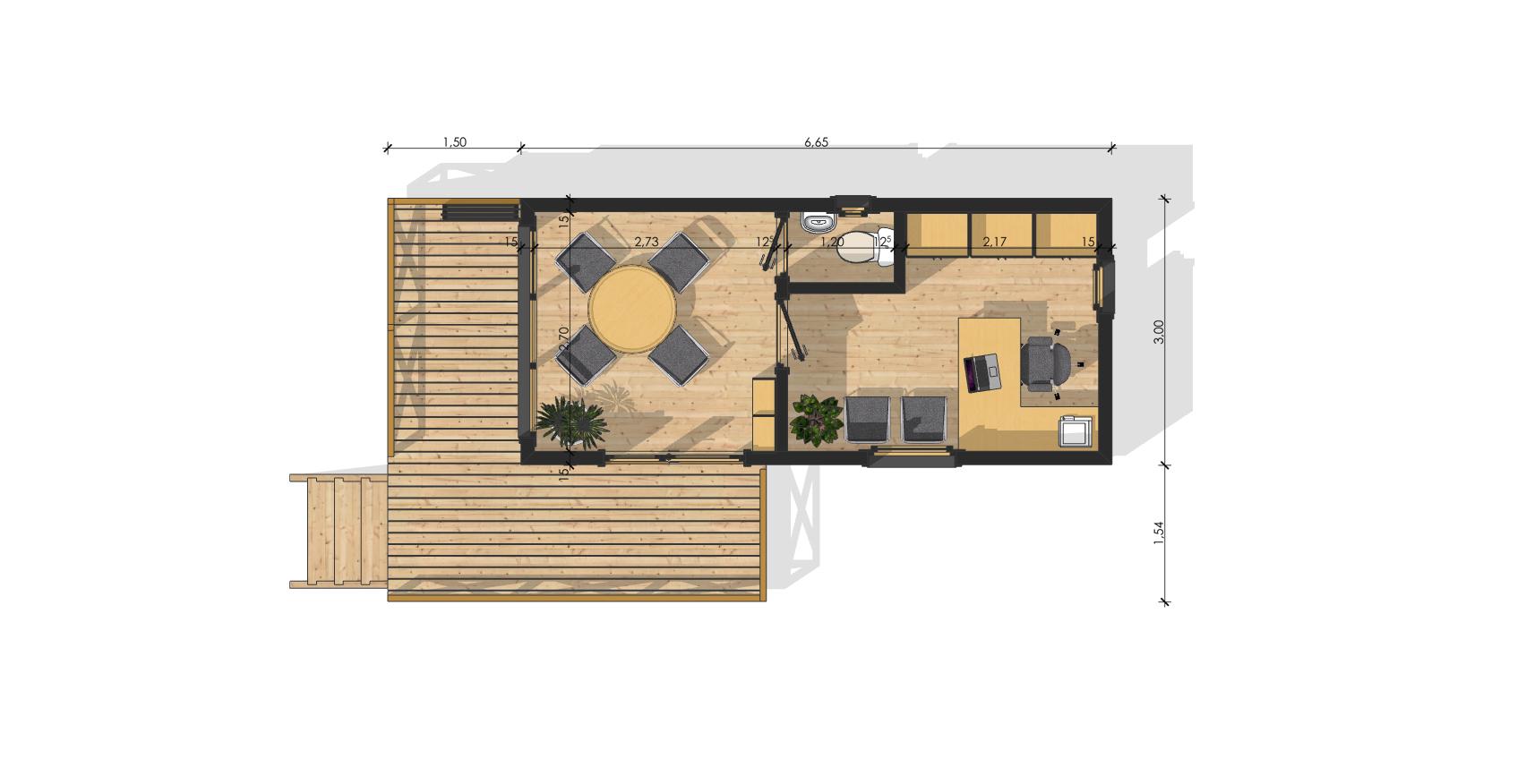 Maison de jardin bruxelles en bois en kit sans permis de for Plan maison jardin