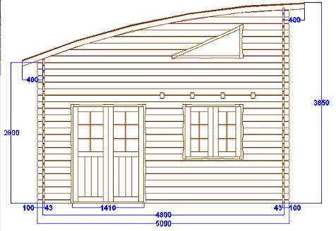 Chalet habitable nantes 30m mezzanine 15 m en bois en for Plan chalet bois