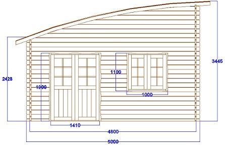 Chalet Habitable Toulouse - 25m² en bois en kit