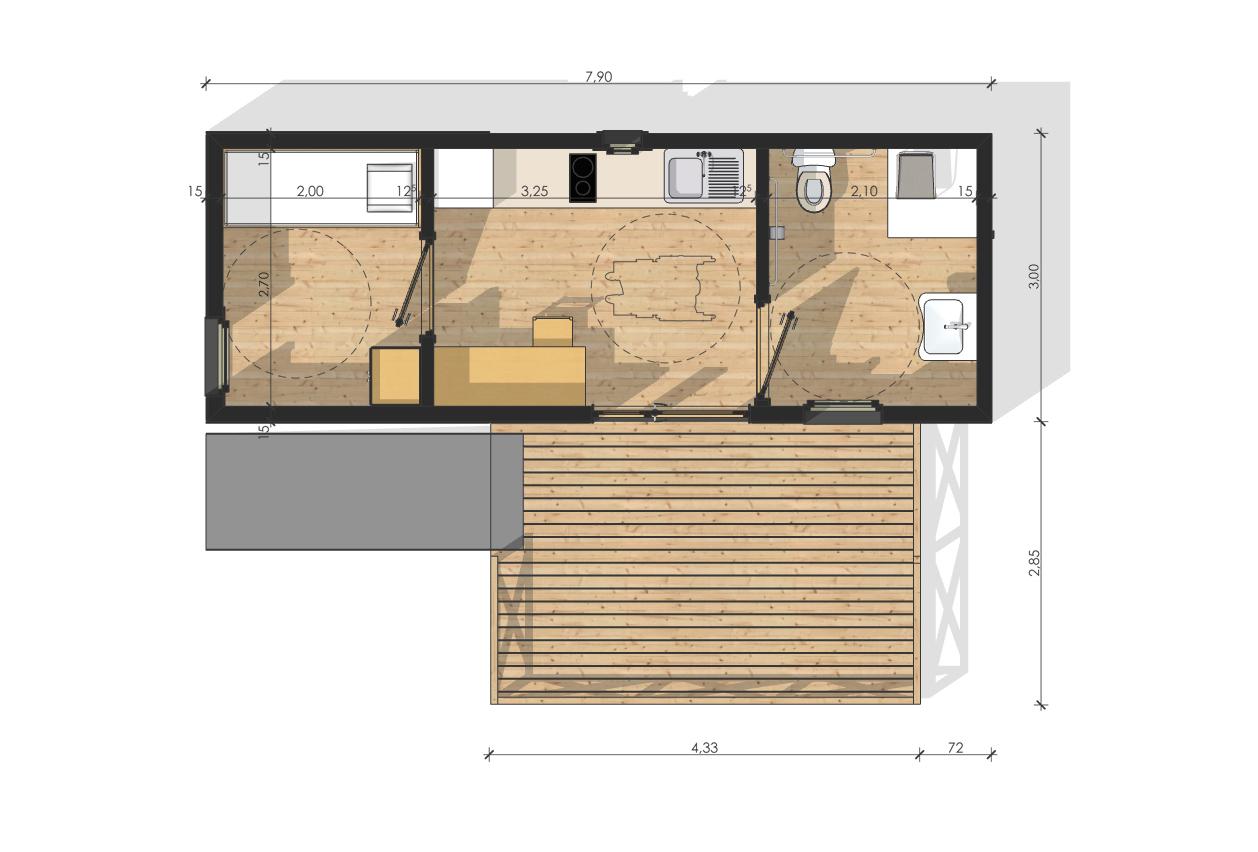 maison de jardin provence en bois. Black Bedroom Furniture Sets. Home Design Ideas