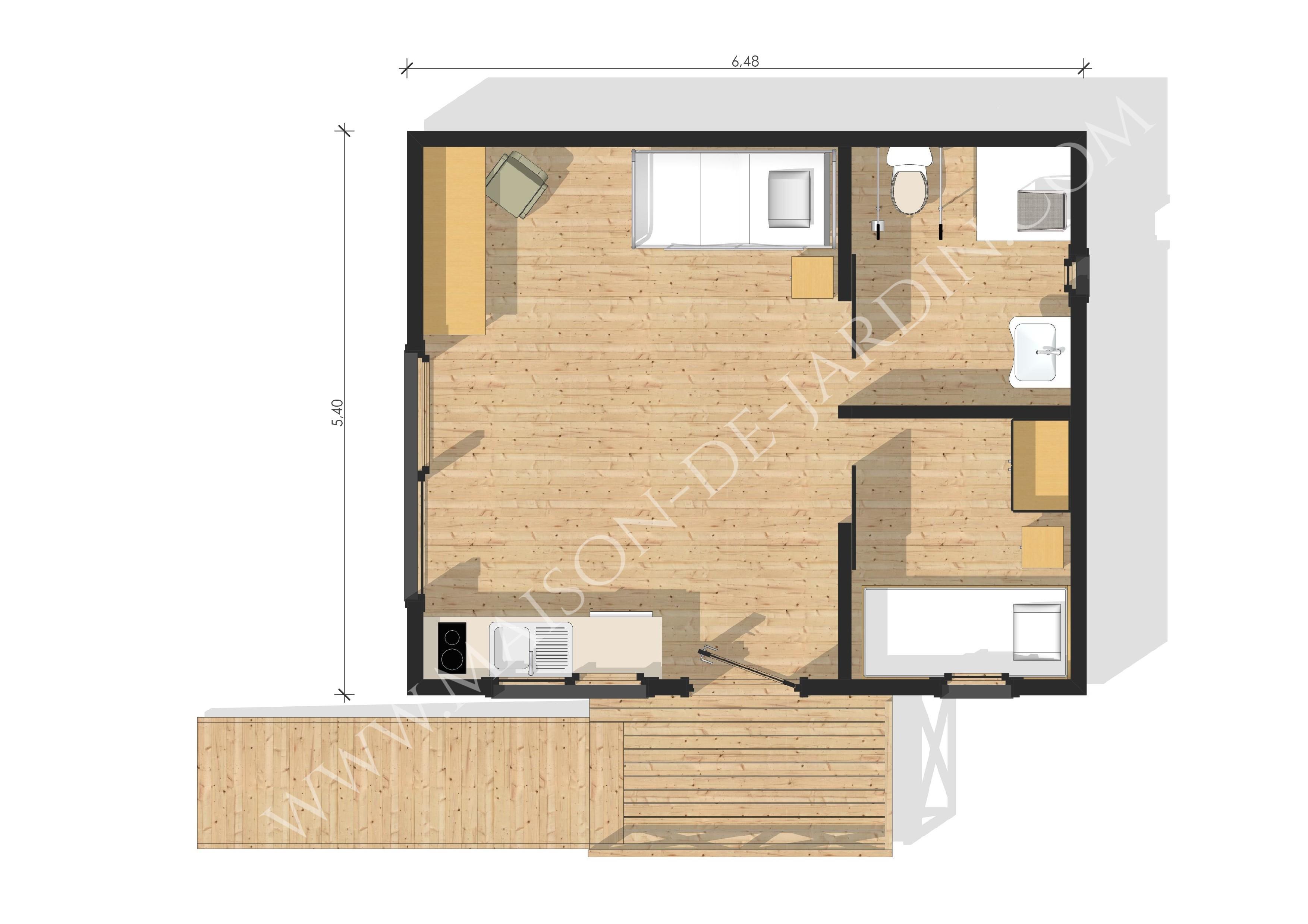 maison de jardin savoie en bois en kit. Black Bedroom Furniture Sets. Home Design Ideas