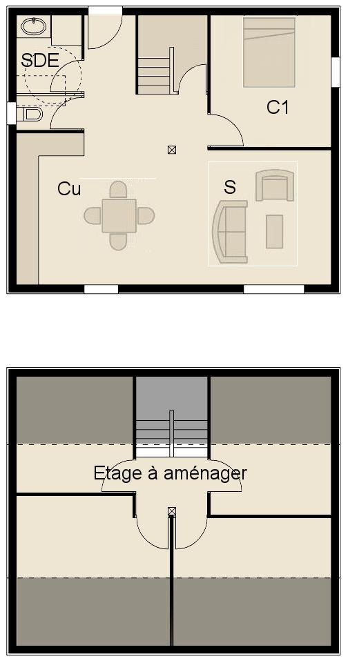 plan fa ade maison ossature bois optimale 5. Black Bedroom Furniture Sets. Home Design Ideas