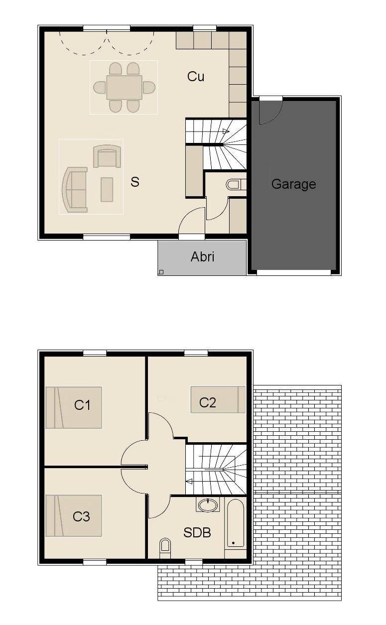 Construction maison ossature bois maison bois optimale 4 for Plan maison ossature bois