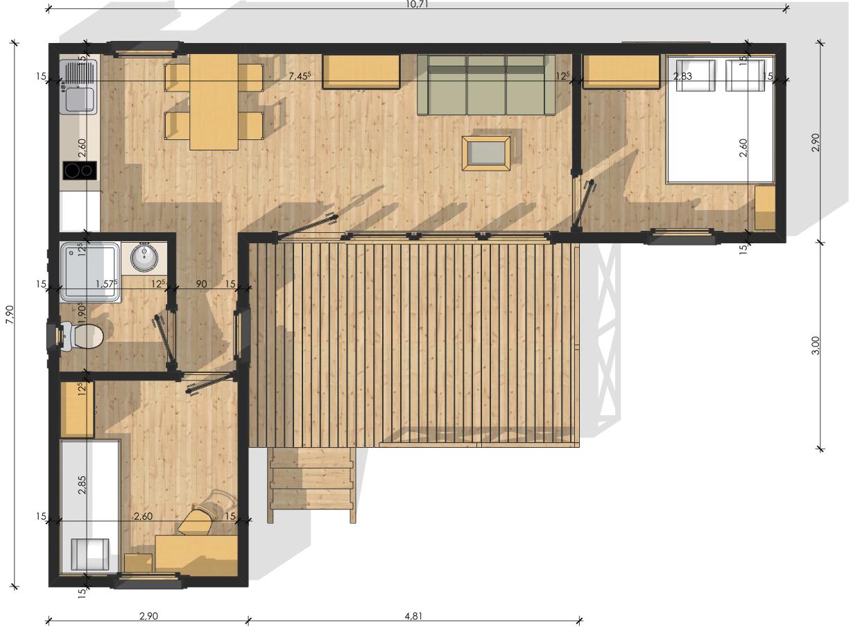 Habitats modulaires for Construction maison modulaire prix