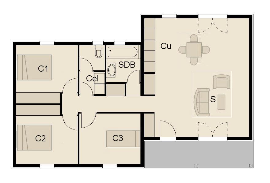 construction maison bois en france maison livr e mont e. Black Bedroom Furniture Sets. Home Design Ideas