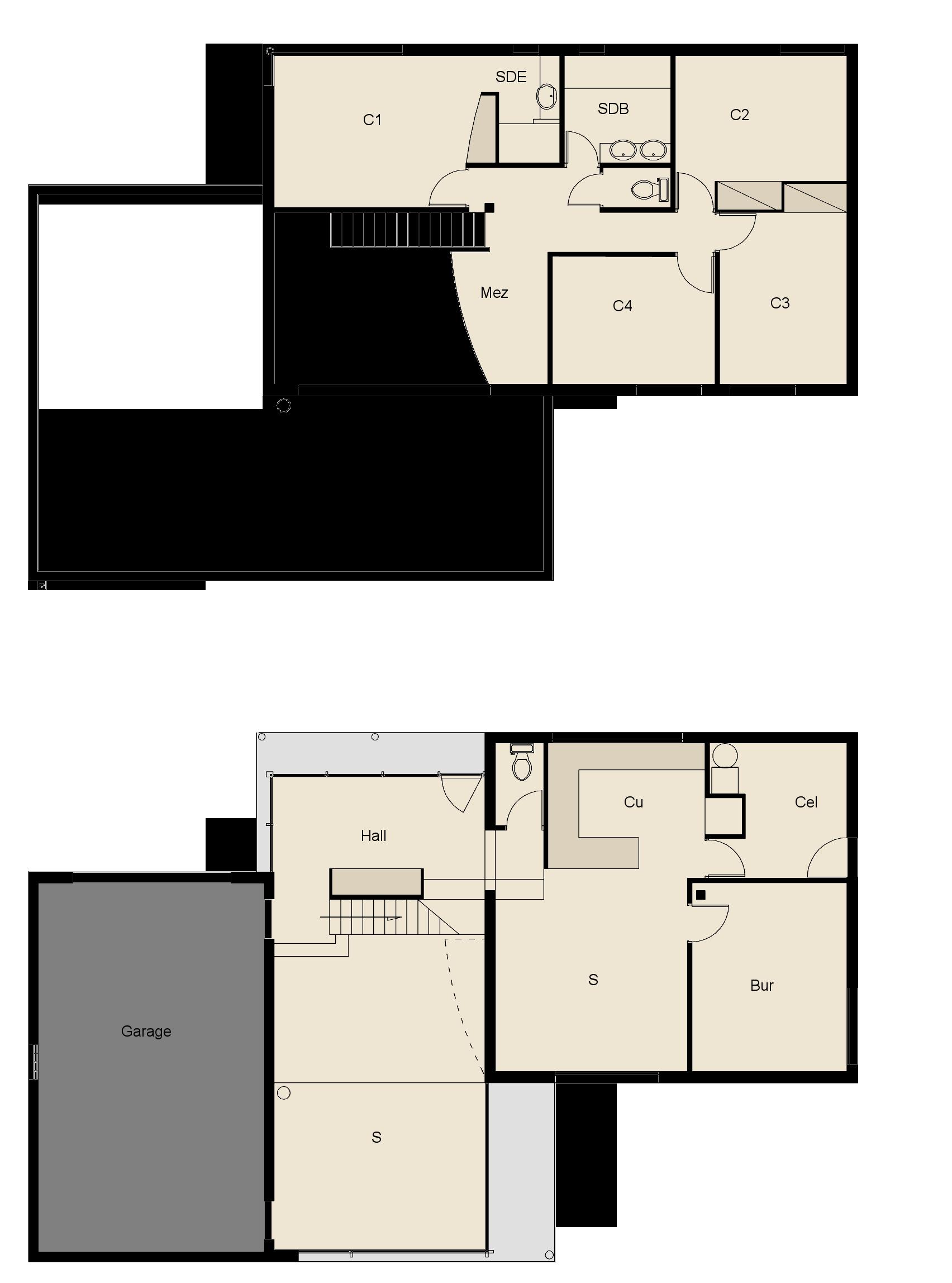 Plan fa ade maison ossature bois maison en bois moderne 2 for Maison en bois moderne