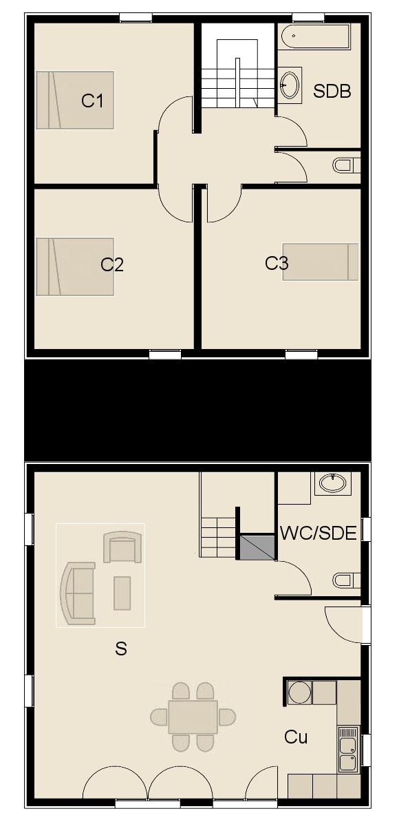 Plan fa ade maison ossature bois maison ossature bois for Plan maison ossature bois