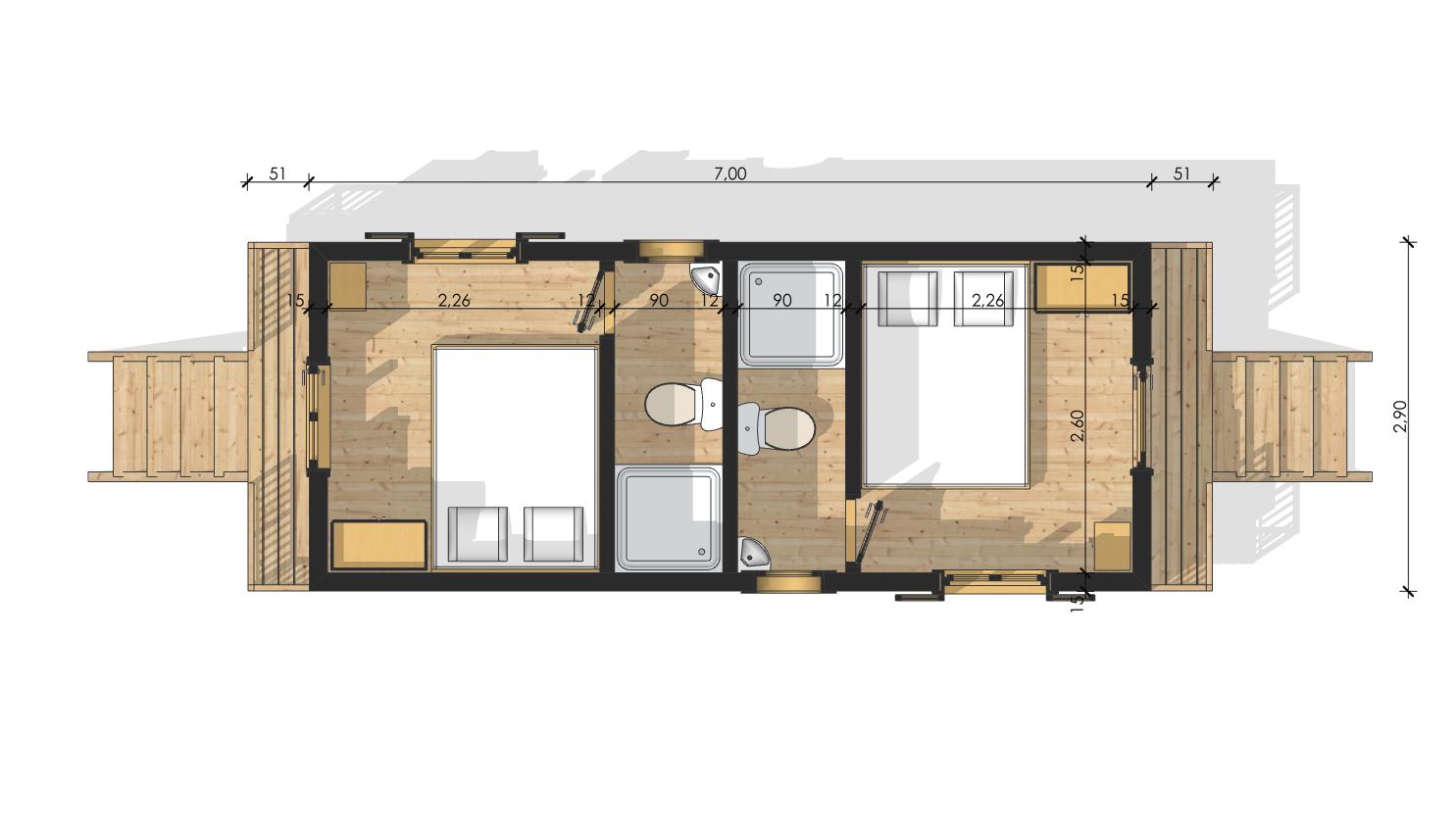 Micro House Plan Roulottes En Bois