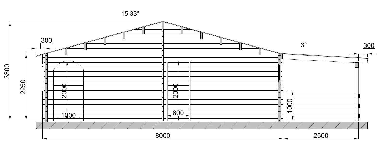 Chalet habitable style loft de 104m en bois en kit for Garage bois 60m2