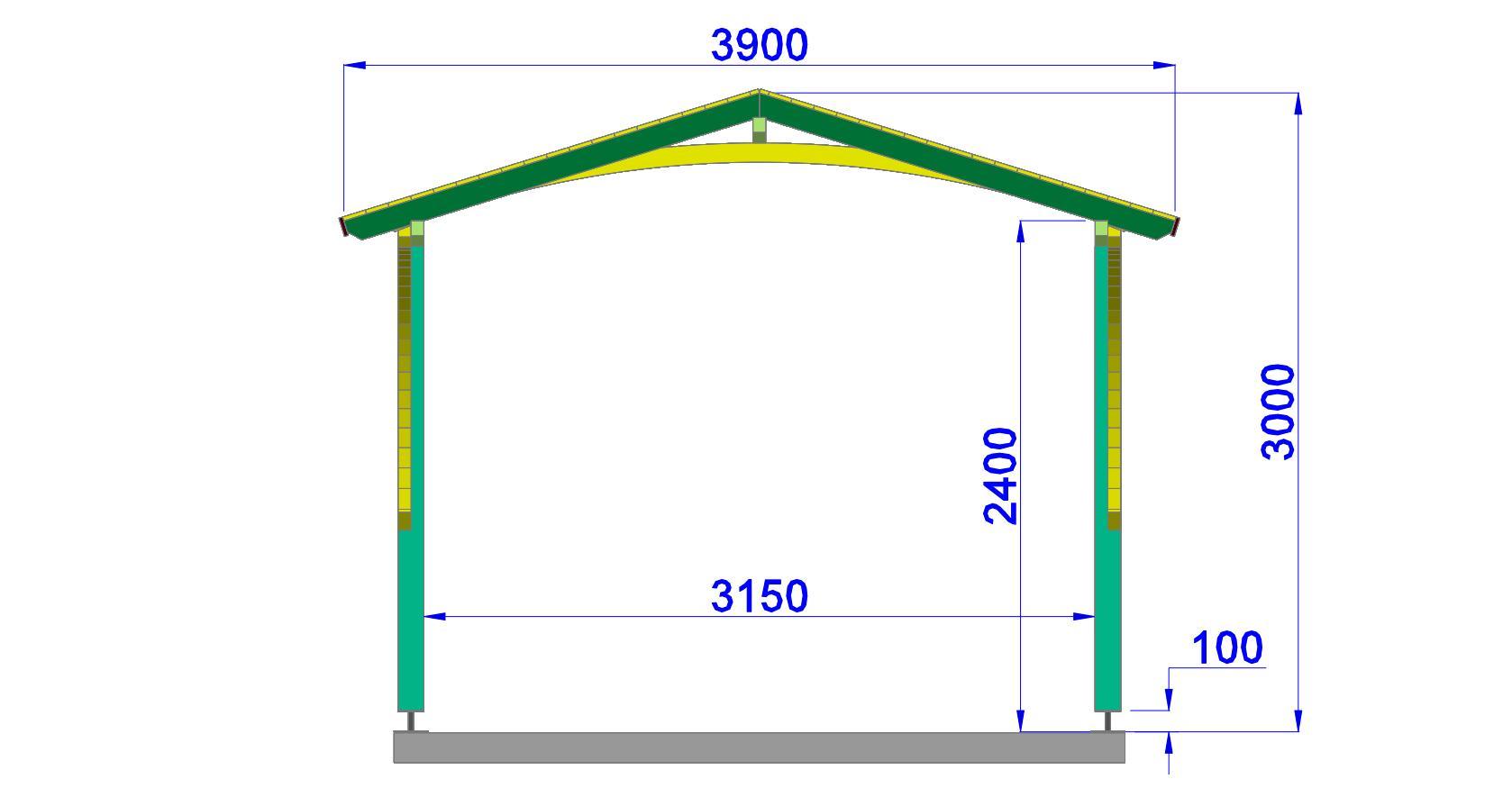 Plan de construction d 39 un carport en bois for Plan de construction