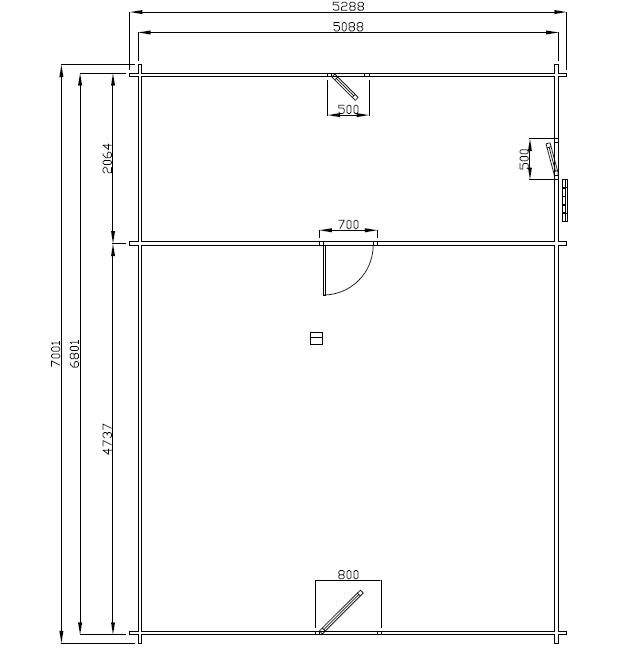 Chalet Habitable Digne 60 m2 en bois en kit avec mezzanine