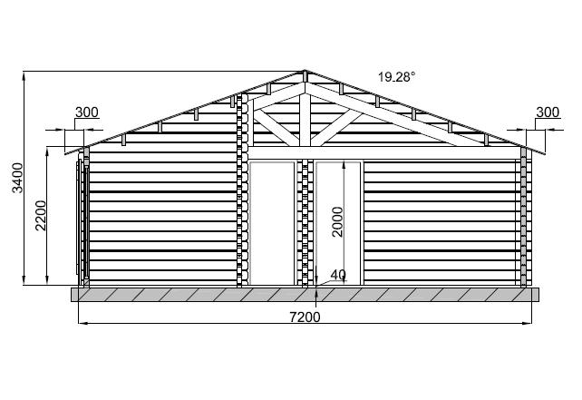Maison bois de 73 m avec une terrasse couverte de 14 m Plan chalet bois
