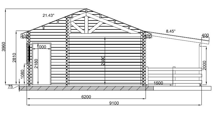 maison bois de 80m en bois en kit. Black Bedroom Furniture Sets. Home Design Ideas