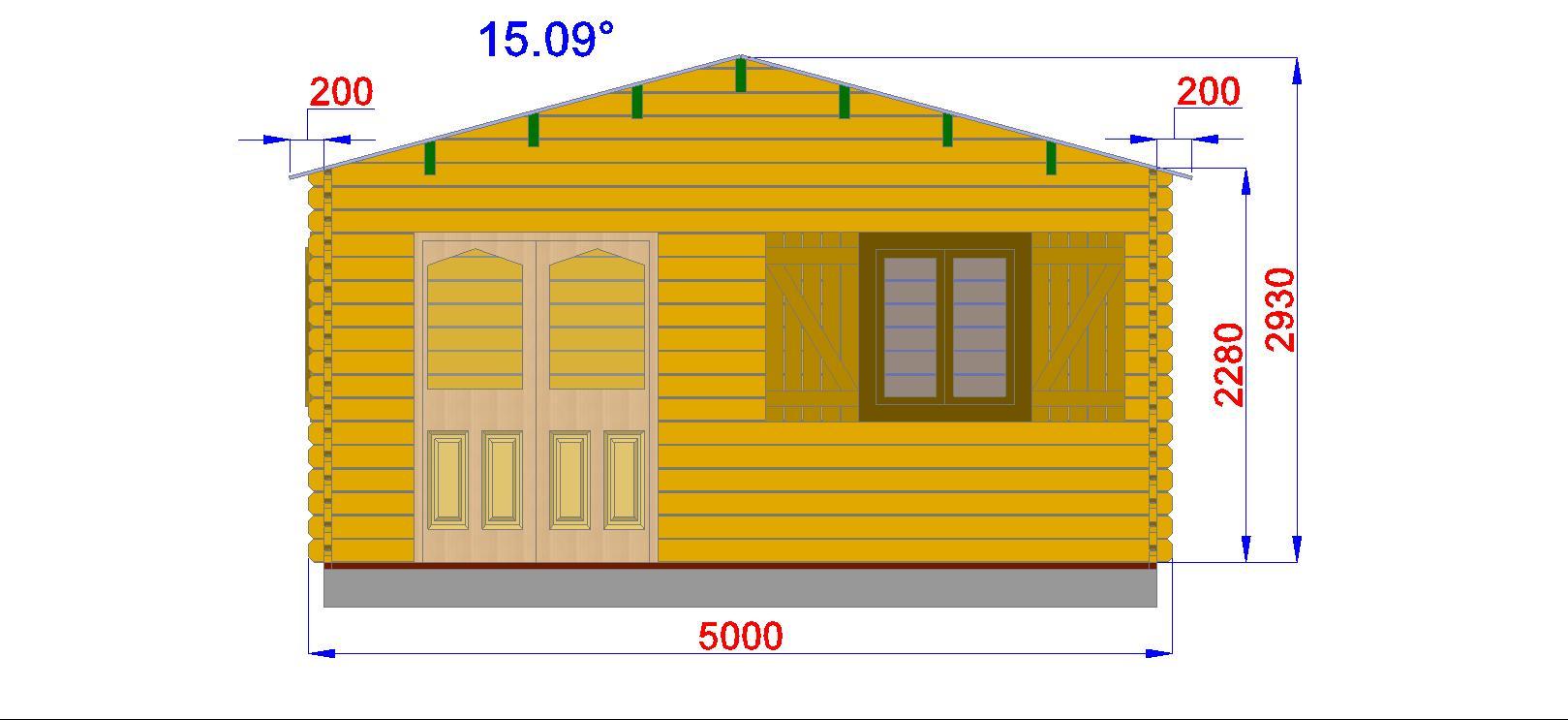 Chalet habitable annecy 30m en bois en kit Plan chalet bois