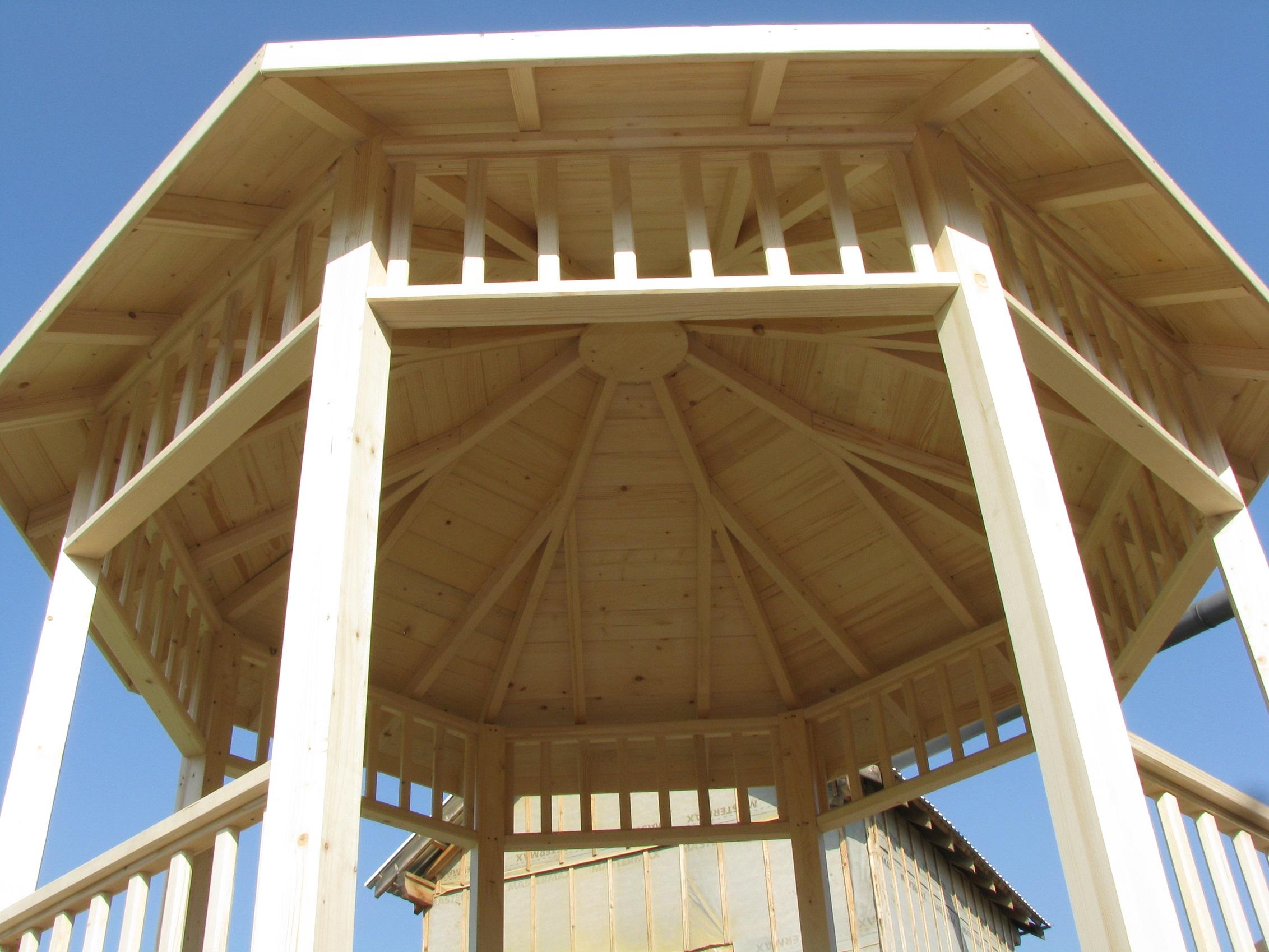 Pergola octogonal 3m x 3m en bois en kit sans permis de construire for Plans de pergola