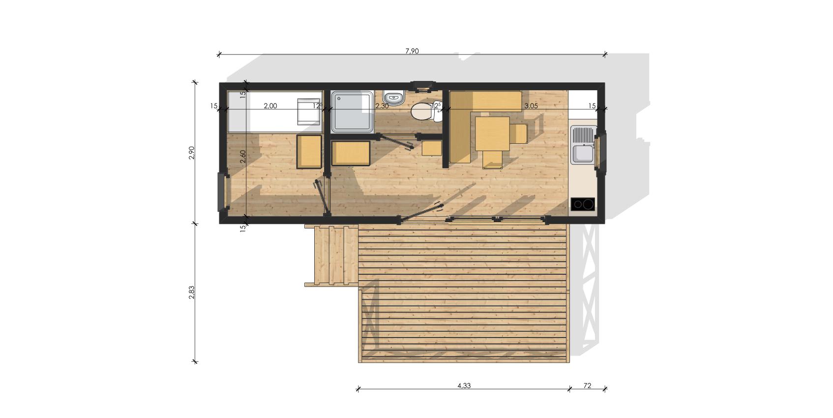 Plan Construction Foyer Logement : Plan mezzanine bois joy studio design gallery best