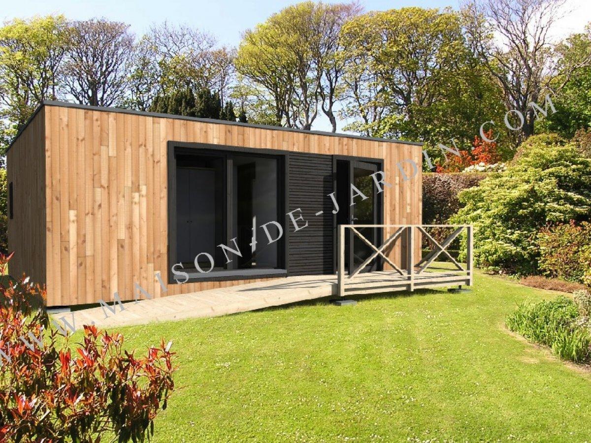 Maison de jardin avec ossature bois belfort 40 m 46090 ttc livr mont cl en main - Maison de jardin design ...