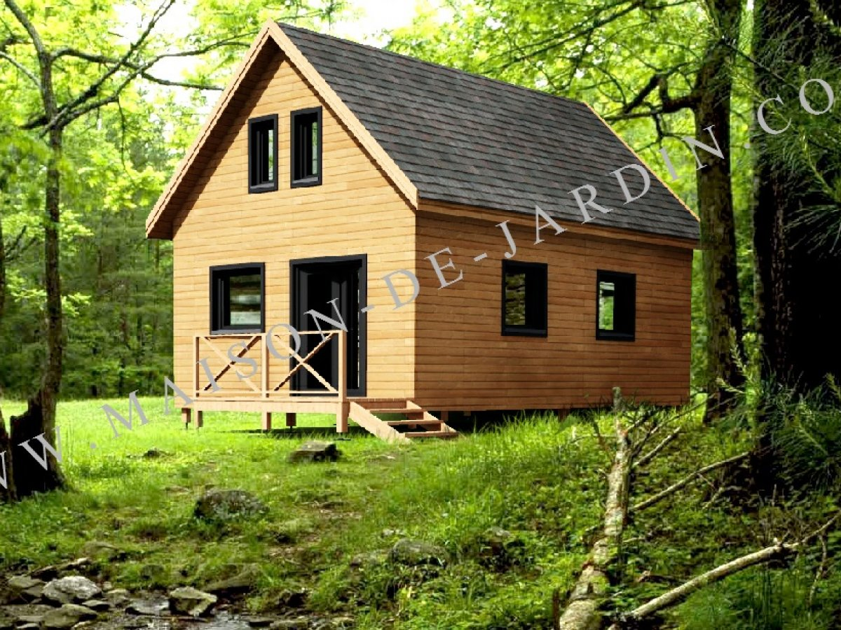 Maison de jardin dordogne en bois en kit - Maison en bois jardin ...