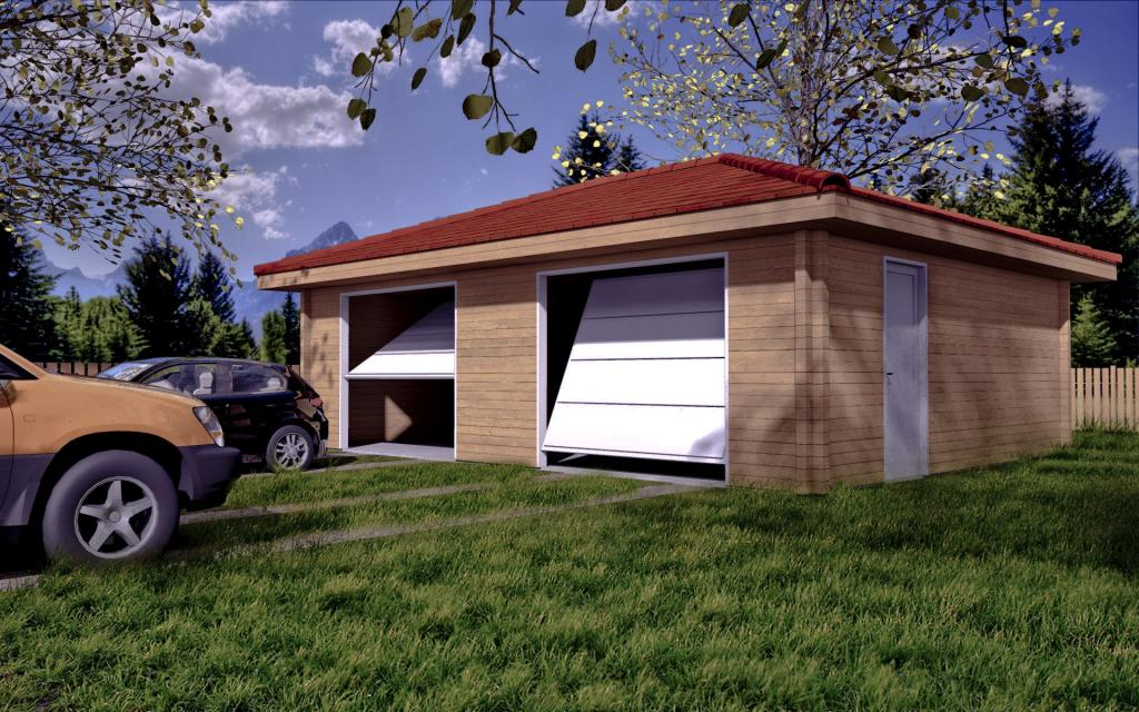 Garage en bois - Cout construction garage 50m2 ...