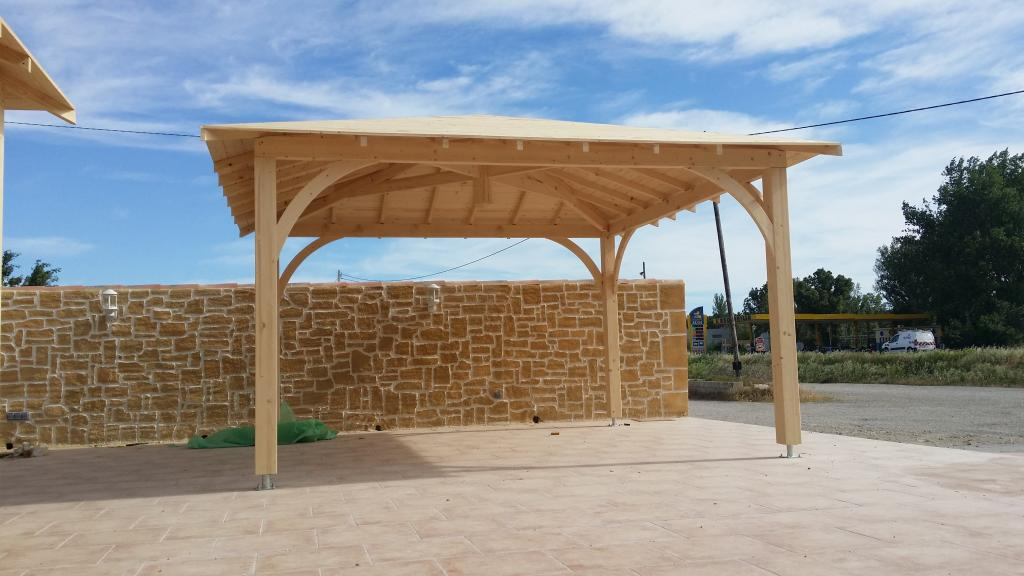 pergola rectangle 4m x 6m en bois en kit. Black Bedroom Furniture Sets. Home Design Ideas