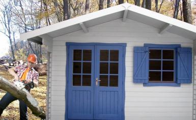 abri de jardin grenoble 16m en bois en kit sans permis. Black Bedroom Furniture Sets. Home Design Ideas
