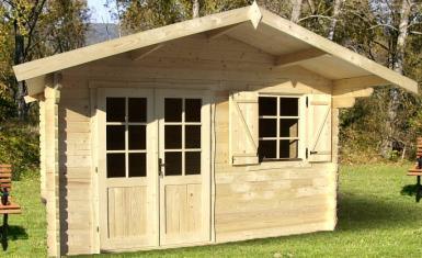 abri de jardin pyr n es 12 m en bois en kit sans permis de construire. Black Bedroom Furniture Sets. Home Design Ideas