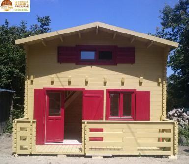 chalet habitable paris 20m mezzanine 10m en bois en kit sans permis de construire avec mezzanine. Black Bedroom Furniture Sets. Home Design Ideas
