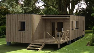 maison de jardin avec ossature bois versailles 35 m 35 m 50925 ttc livr mont cl en main. Black Bedroom Furniture Sets. Home Design Ideas